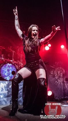 Floor Jansen. She is a Dutch singer, songwriter and vocal coach. Also the lead singer for the band Night wish.
