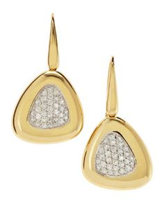 Roberto Coin Wire-Back Diamond Triangle Earrings