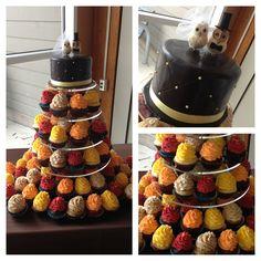 Fall wedding cake cupcakes