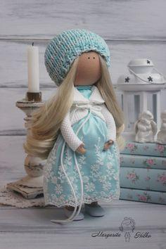 Pregnant doll Art doll Handmade doll Bambole Turquoise doll Puppen Muñecas Rag doll Tilda doll Baby doll Portrait doll by Margarita Hilko Margarita, Mini Bebidas, New Dolls, Soft Dolls, Make Art, Fabric Dolls, Baby Dolls, Doll Clothes, Crochet Hats