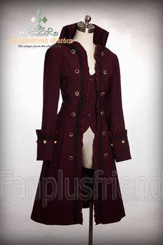 Nocturne Coat, dark red