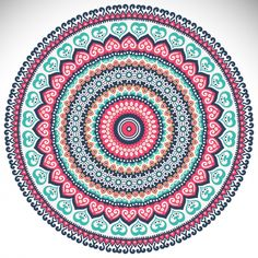 Colorful mandala on a white background Free VectorClick the link now to find the center in you with our amazing selections of items ranging from yoga apparel to meditation space decor! Mandala Wallpaper, Mandala Artwork, Mandala Art Lesson, Mandala Drawing, Coloring Book Art, Mandala Coloring Pages, Mandala Design, Hamsa Art, Motif Vintage