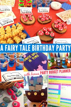 A Fairy Tale Themed Birthday Party. Ideas for games and activities, food and invitations.