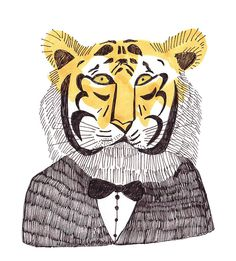 by stephanie kwak, via Flickr mr.tiger illustration