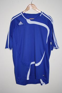 Adidas Clima365 Mens Fitness Sport Futbal Tshirt Size 2XL Fashion Designer Blue