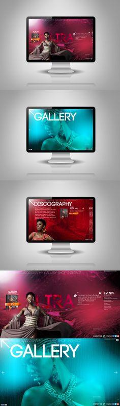 South African musician Lira website concept, UX, IA, Design by Steven Brewis Page Layout Design, Web Design, Print Design, Web Inspiration, Graphic Design Inspiration, Ui Web, Interface Design, Art Direction, Musicians
