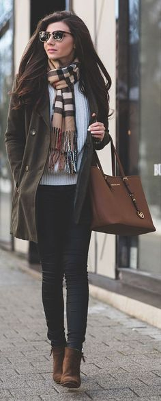 Nude Multi Plaid Scarf