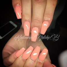 Natural nude coffin  acrylic nails follow on Instagram @audacious.nailsbyb