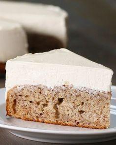 Banana Bread Bottom Cheesecake | Banana Bread Bottom ( use 2 less bananas, almond flour and Sugar substitute)