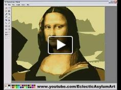 Painting of the Mona Lisa using Microsoft paint.  Original painting time 2hrs 30mins.  Plays in under 5 minutes.    Thank you everyone who voted for this video in the 2007 YouTube Video Awards.