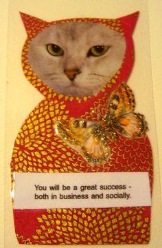 Fortune Kitty by kittykittycupcake on Etsy, $20.00