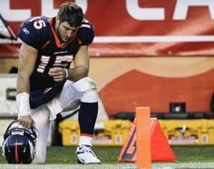 Tim Tebow while tebowing. Instead of scoffing and mocking, the world would be a better place if more people was Tebowing.