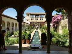 Generalife Gardens, Alhambra, Spain.