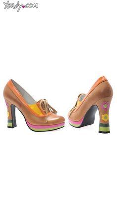 cc7a1cdefb Flower Power Oxford Schnürschuhe, Schuhe der 70er, süße Schuhe für Frauen