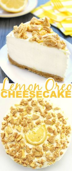 This No Bake Lemon Oreo Cheesecake is full of tangy sweet flavour. It's a dessert all lemon lovers are sure to enjoy. It's a wonderful summer treat!