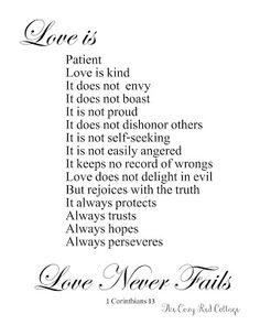 Love Is Patient Love Is Kind 1 Corinthians 13 Vinyl Lettering Wall