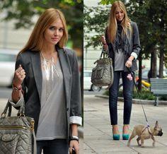 Grey shades for Friday (by Chiara Ferragni) http://lookbook.nu/look/1213929-Grey-shades-for-Friday