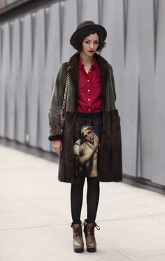 On the Street....the skirt is a work of art! / Valentina / Photo: The Sartorialist