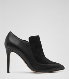 slip-on textured ankle boots via reiss