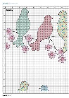 Borduren: Allerlei + Patroon ~Birds in Blossom 4/6~