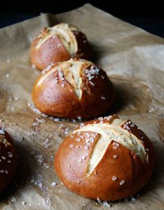 Pretzel Rolls Recipe (This pretzel rolls recipe is astoundingly easy. They're also dense, chewy, salty, yeasty, and all the other things you like about soft pretzels.)