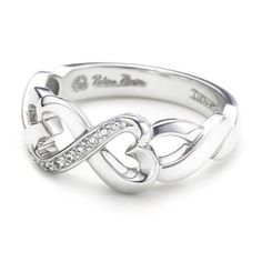 infinity heart ring - mommy