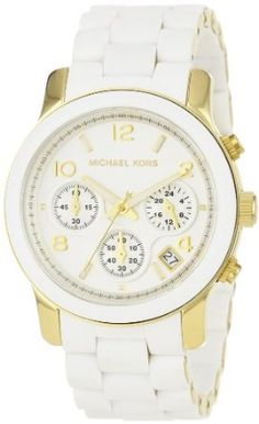 Amazon.com: Michael Kors MK5145 Women's Two Tone Stainless Steel Quartz Chronograph White Dial Watch: Michael Kors: Watches
