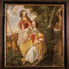 Michael Angelo Immenraet  Datering   1661   Titel  Portrait of Odila and Philippina van Wassenaer