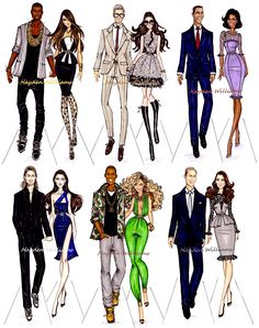 #Hayden Williams Fashion Illustrations #Power Couples by Hayden Williams