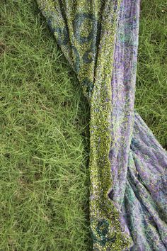 grass embroidery