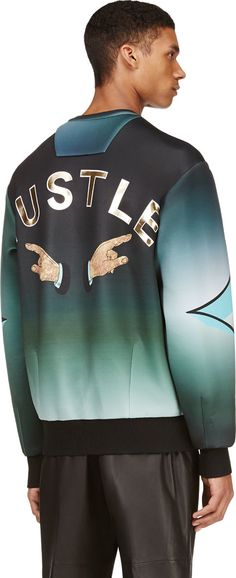Juun.j: Green 'Can't Knock The Hustle' Pullover