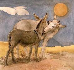 Ciccone Antonio - Donkeys, 1989 (fresco)
