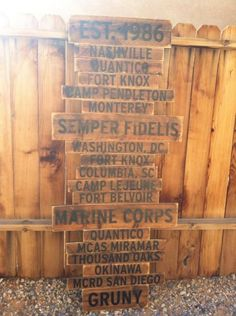 love these home-is-where-the-military-sends-us plaques