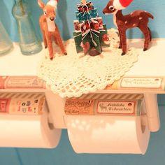 washi tape toilet paper holder
