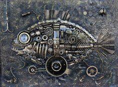 Панно в стиле Стимпанк Рыба Евгений Мухортов / Фотобанк Лори