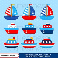 Nautical Clipart Sailor Clipart Navy Clipart Ship by Cutesiness