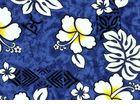 Master bath shower curtain   Hawaiian Fabric Valance Blue Hawaii