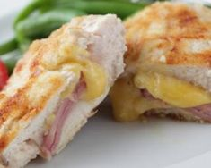 Crock Pot Stuffed Chicken Rolls Recipe with Ham and Cheese - not too bad, but I much prefer my cordon bleu recipe so likely won't make these again. Recipes With Ham And Cheese, Rolled Chicken Recipes, Ham Recipes, Cooking Recipes, Dinner Recipes, Dinner Ideas, Crock Pot Slow Cooker, Crock Pot Cooking, Slow Cooker Recipes