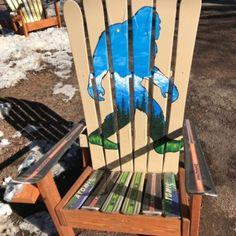 Sasquatch Mural Adirondack Ski Chair