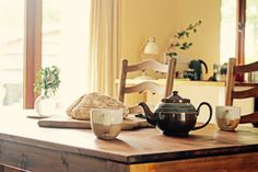 Bread and tea Tea Pots, Duvet, Barn, Bread, Home, Down Comforter, Converted Barn, Brot, Ad Home