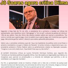 Jô Soares agora critica Dilma ➤ http://portalimprensa.com.br/noticias/brasil/74697/jo+soares+critica+dilma+ex+presidentes+e+ministro+que+desmarcou+entrevista ②⓪①⑤ ①⓪ ⓪⑨ #Impeachment