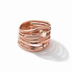 J7342 Ippolita 18k Rose Gold Movie Star Ring with Diamonds - Bergdorf Goodman