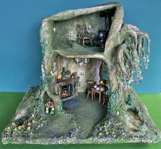Fairy tree trunk doll house by Torisaur