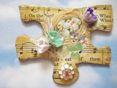 Altered Puzzle Piece for Sheryl | by Donetta's Beaded Treasures