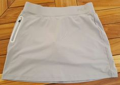 Fila Sport gray tennis golf skirt skort workout side zip pocket womens S | Clothing, Shoes & Accessories, Women's Clothing, Athletic Apparel | eBay!