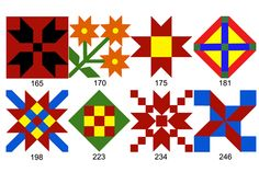 Wooden Barn Quilt Blocks made in the USA.  I'm doing this some day. My barn needs some style.