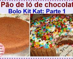 Pão de ló de chocolate: Bolo Kit Kat, parte 1