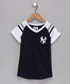 Take a look at this Black Yankees Tee - Girls by MLB on today!
