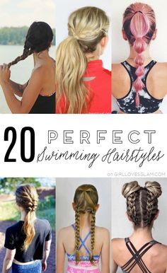 20 Perfect Swimming Hairstyles on www.girllovesglam.com