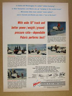 1965 Polaris MUSTANG COLT Sno-Traveler Snowmobiles vintage print Ad   eBay